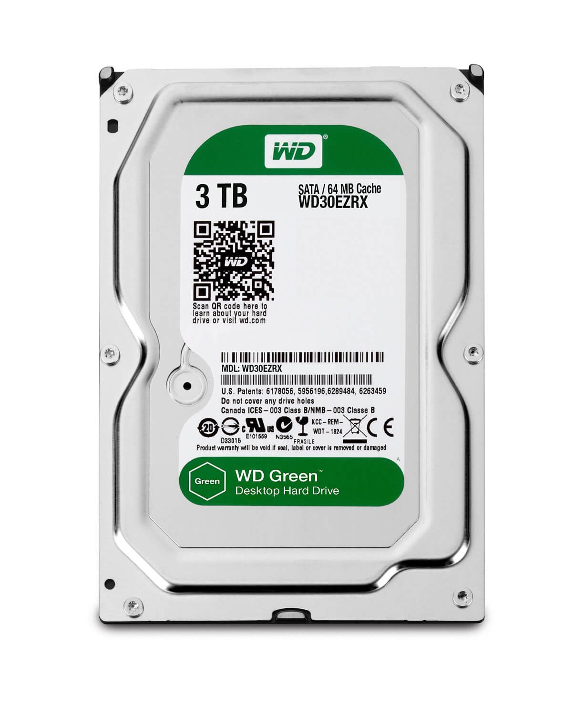 3TB Western Digital Green HDD