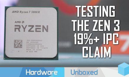 Ryzen 5000 IPC Benchmark, Zen 3 vs Zen 2 vs Zen+ vs Zen vs Comet Lake