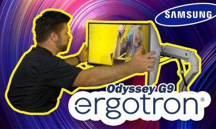 VESA Mounting Samsung Odyssey G9   Ergotron HX + G9 Mount Review