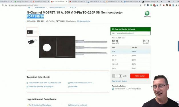 EEVblog 1387 – MOSFET Repair Replacement Search