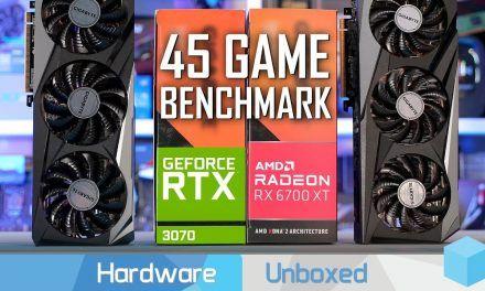 Radeon RX 6700 XT vs  GeForce RTX 3070, 45 Game Benchmark 1080p, 1440p & 4K